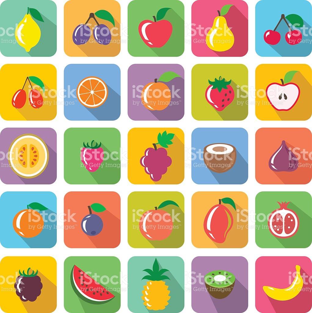 Obstsymbole Vektor Illustration 510155078.