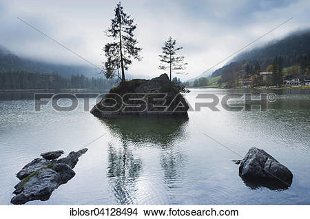 Stock Photo of Hintersee, Ramsau, Berchtesgaden National Park.