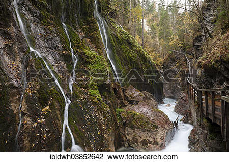 "Stock Photo of ""Wimbachklamm Gorge, Wimbach Valley, Berchtesgaden."