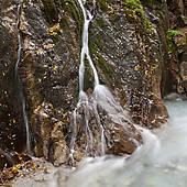 "Picture of ""Waterfalls in the Wimbachklamm gorge, Wimbach valley."