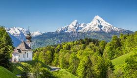 Beautiful Mountain Landscape In The Bavarian Alps, Berchtesgadener.