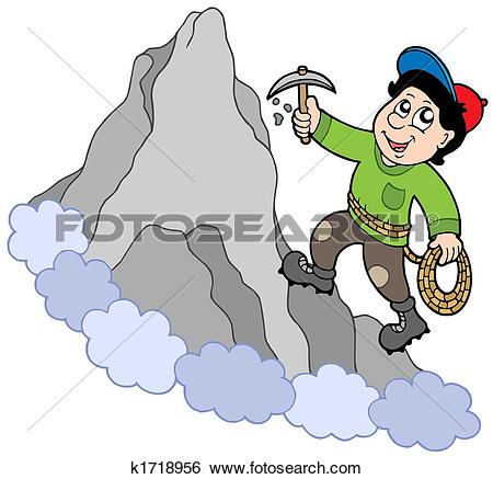 Mountain climbing Illustrations and Clipart. 1,946 mountain.