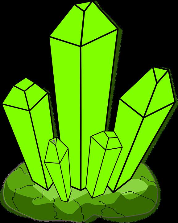 Free vector graphic: Crystal, Green, Growth, Cartoon.