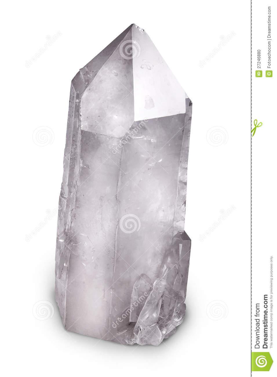 Natural Quartz Berg Crystal Stock Photo.