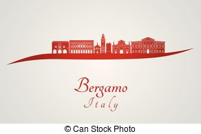 Bergamo skyline Clip Art Vector Graphics. 7 Bergamo skyline EPS.