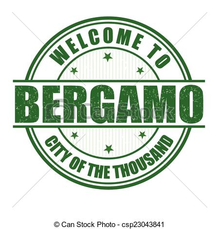 EPS Vector of Welcome to Bergamo stamp.
