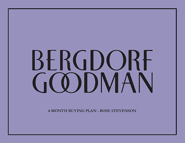 Bergdorf Goodman 6 month buying plan on SCAD Portfolios.