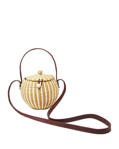 Crossbody Striped Handbag.