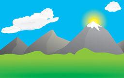 Landschaft berge clipart.