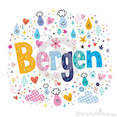 Bergen Norway Stock Illustrations.