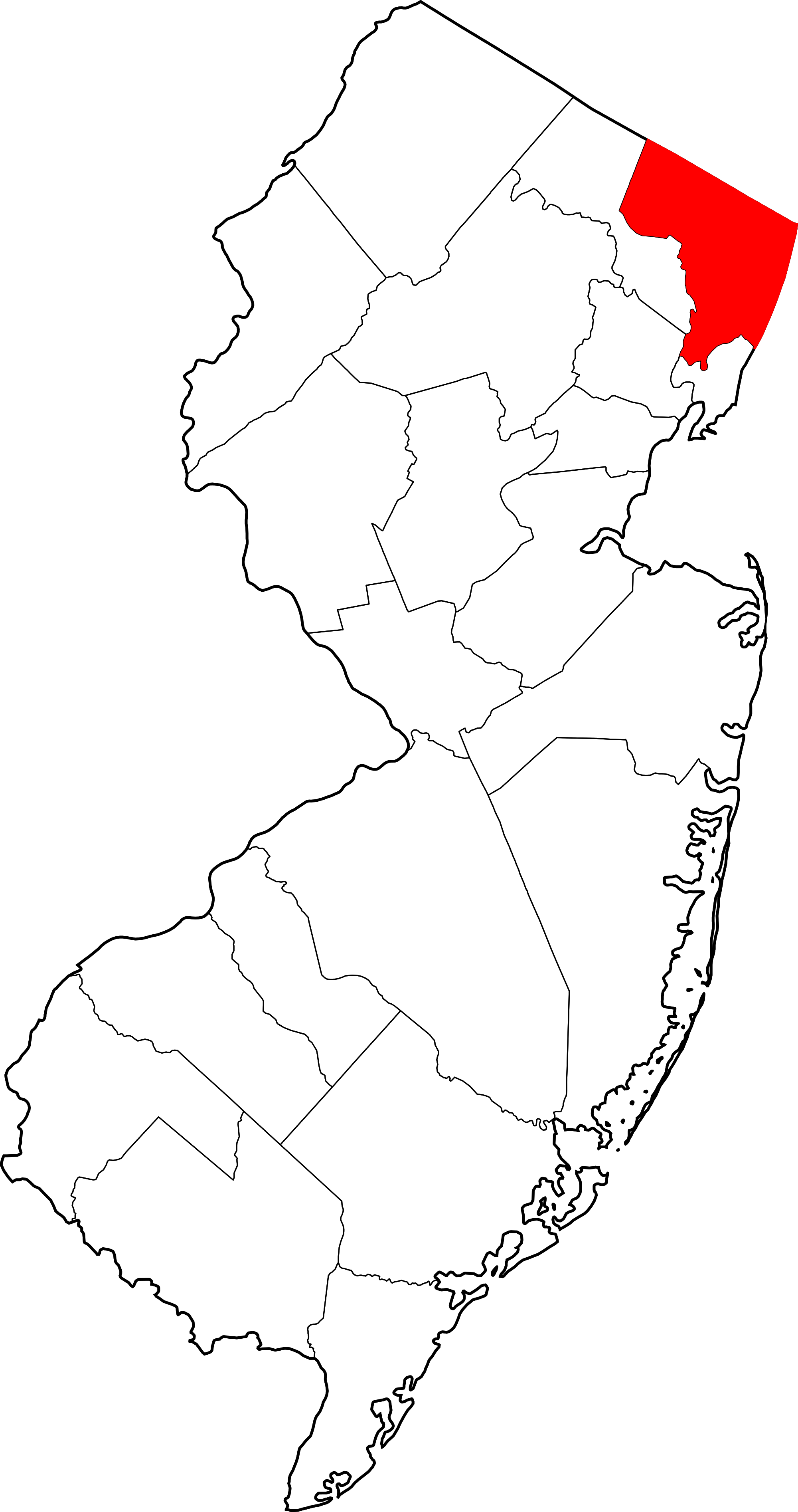 county map of nj.