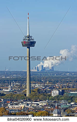 """Stock Photography of """"Telecommunications tower Colonius, behind."""