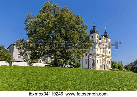 Stock Images of Pilgrimage church of Maria Plain, Bergheim.