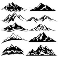 Bergketten UND Malerischen Szenen premium clipart.