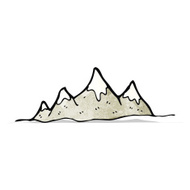 Bergketten premium clipart.