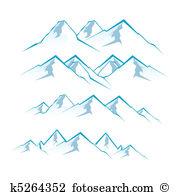 Berge Clip Art Vektor Grafiken. 48.597 berge EPS Clipart Vektor.