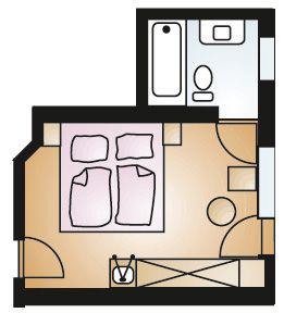 Double Room Tyrol 22m².