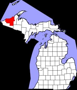 Xã Bergland, Quận Ontonagon, Michigan.