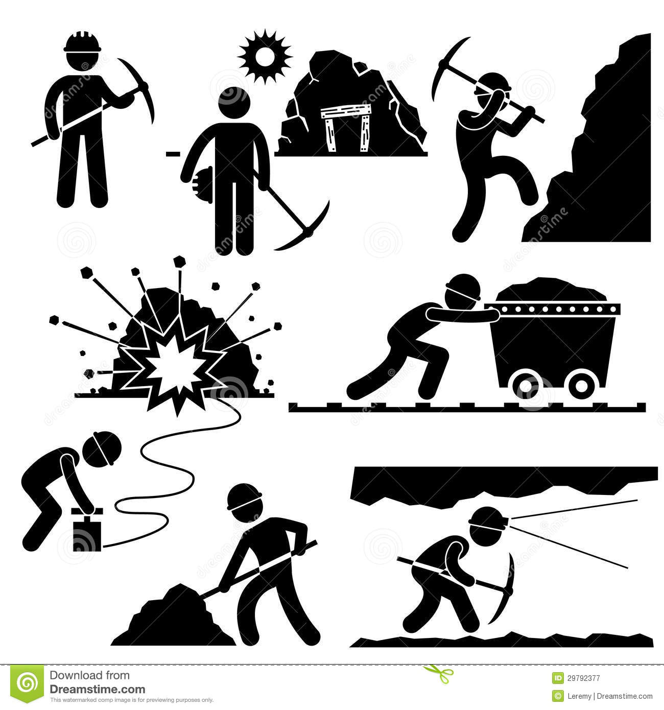 Miner Stock Illustrations.