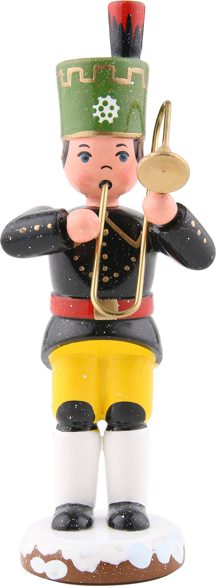 Winter Children Bergmann Trombone (9cm/3,5in)ch by Hubrig Volkskunst.