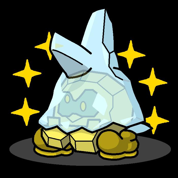 Shiny Bergmite + Cleft (Paper Mario) by shawarmachine on DeviantArt.