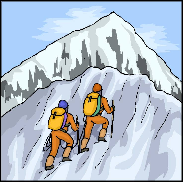 Wandern Berg Comic