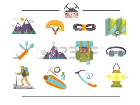 Mountains Hiking Stock Illustrations, Cliparts And Royalty Free.