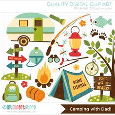Clip art, Art and Camping on Pinterest.