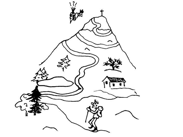 Berg besteigen clipart.