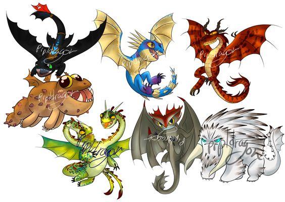 """Résultat de recherche d'images pour """"dragones de berk dragones."""