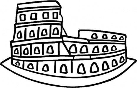 roman colosseum cartoon coliseum vector clip art.