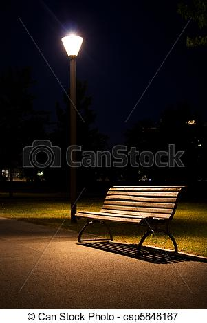 Picture of berlin park night bench lantern csp5848167.