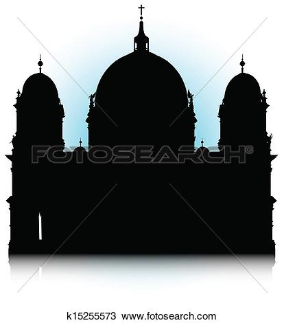 Clipart of Berlin Cathedral k15255573.