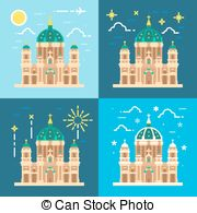 Vector Clipart of Berlin Cathedral Berliner Dom Germany Hand drawn.