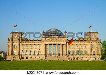 Stock Photography of Reichstag building (german government) in.