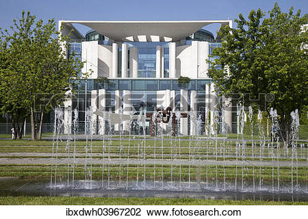 """Stock Photo of """"Federal Chancellery, Government District, Berlin."""