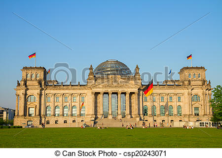 Picture of Reichstag building (german government) in Berlin.
