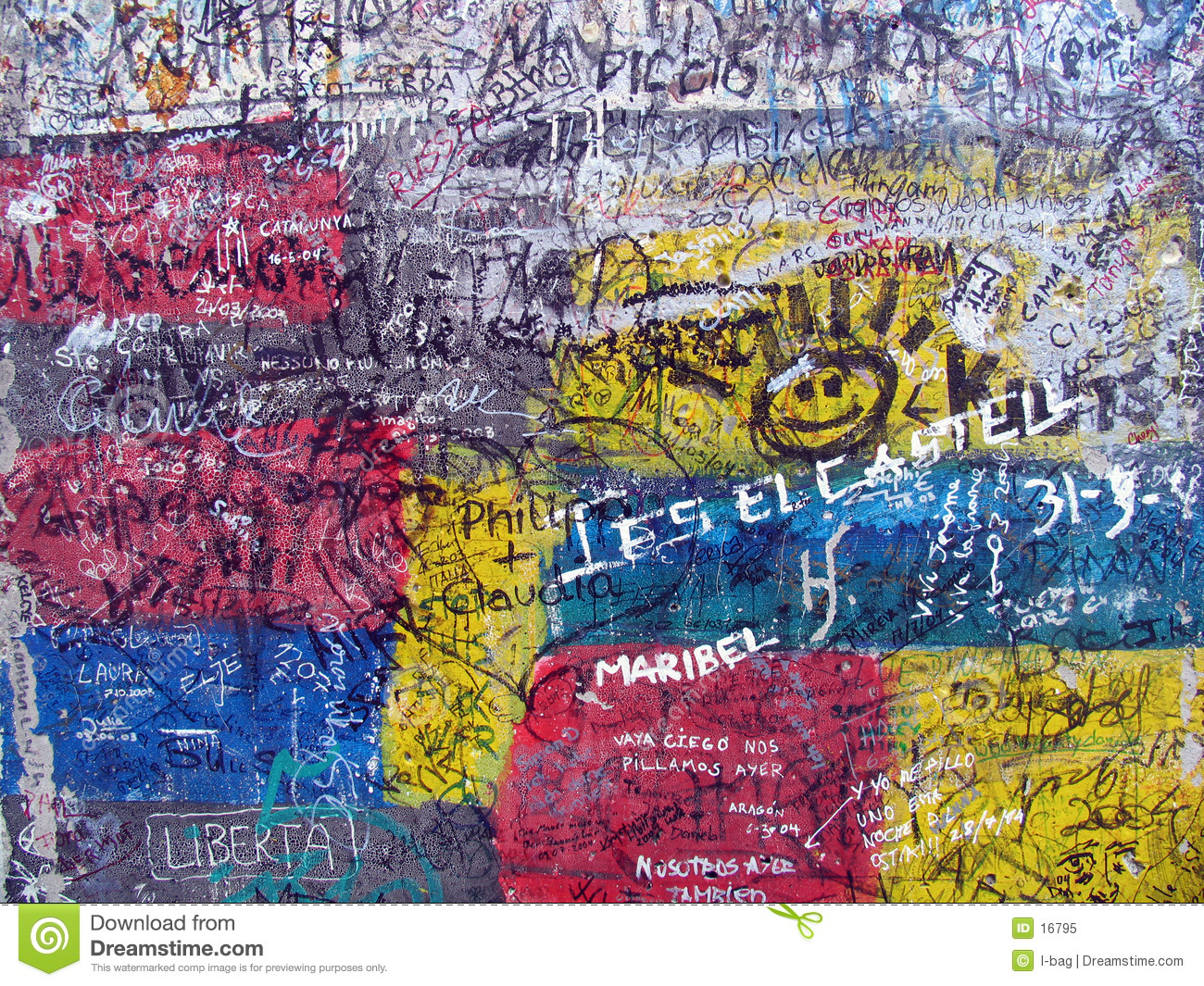 Berlin wall broken clipart.
