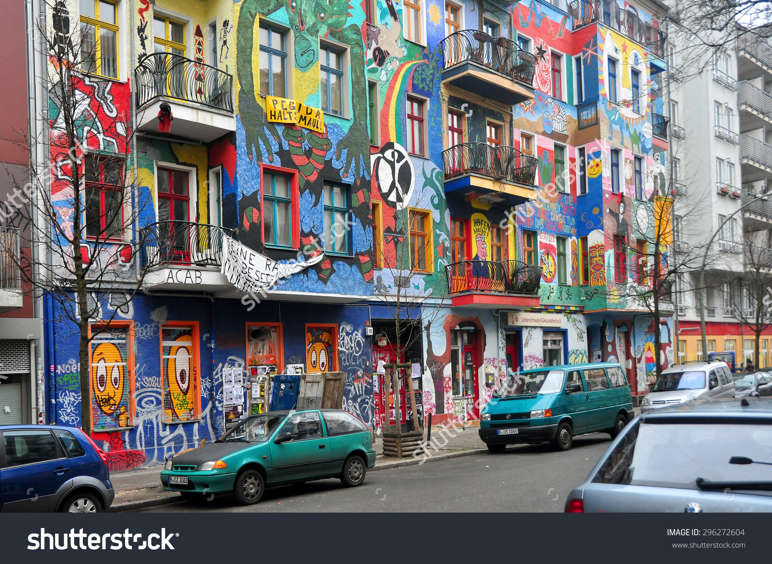 Berlin March 6 Graffiti House Easten Stock Photo 296272604.
