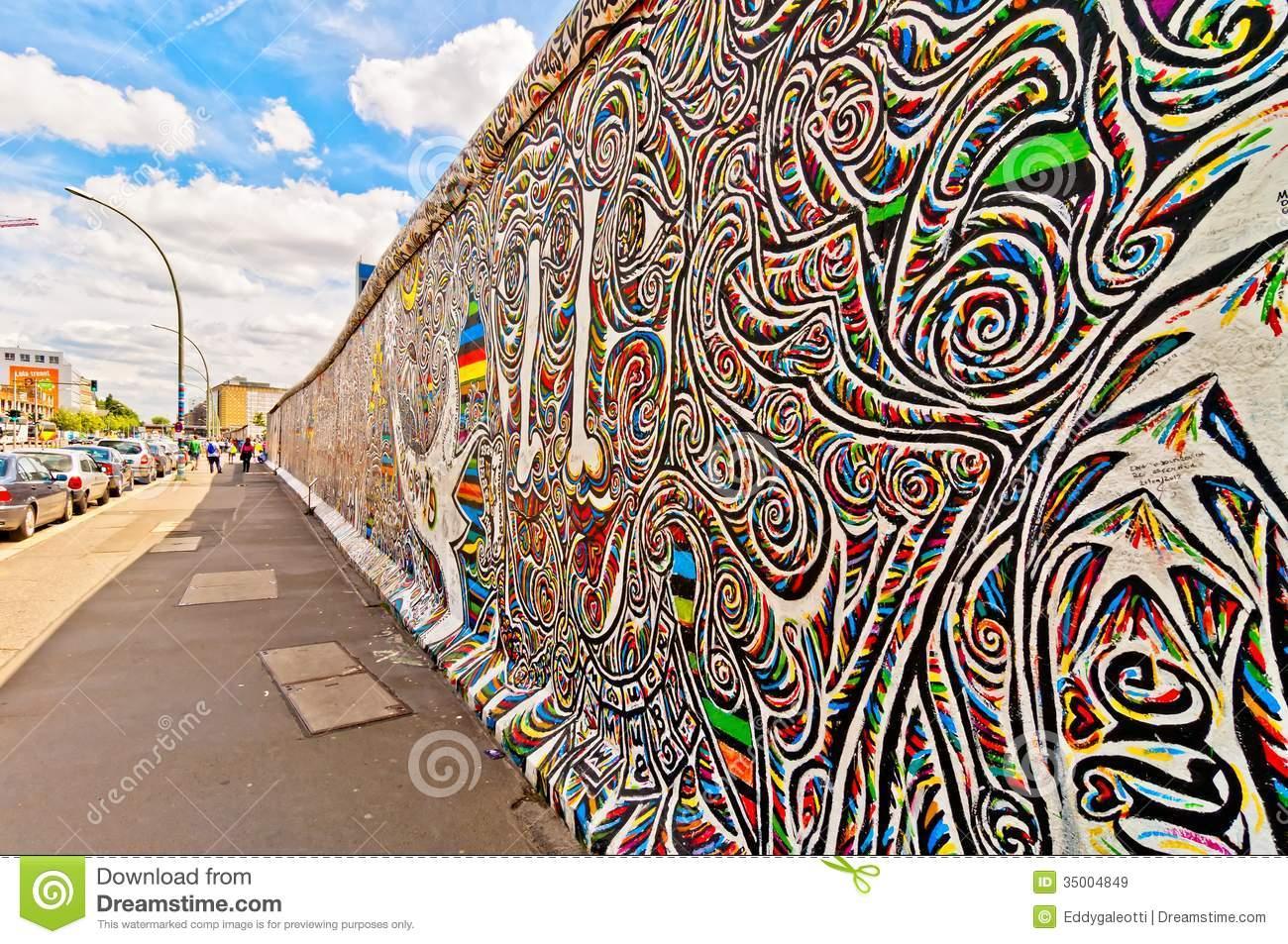 Graffiti Berlin Editorial Image.