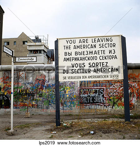 Stock Photograph of 38 1986 Germany Berlin Wall With Graffiti And.