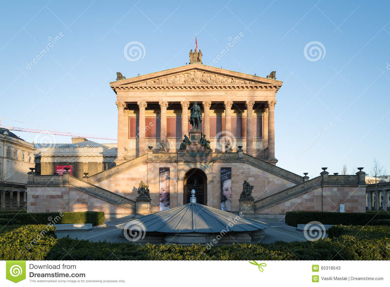 Alte Nationalgalerie (Old National Gallery) On The Museumsinsel In.