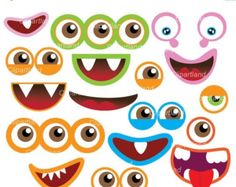 Monster Clipart Cute Digital Little Monster Birthday Party Silly.