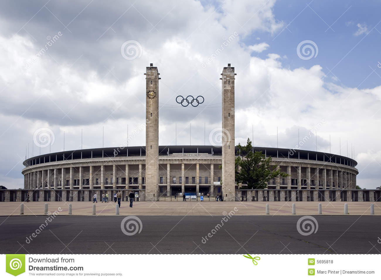 Olympic Stadium Berlin Exterior Main Entrance View Editorial Stock.