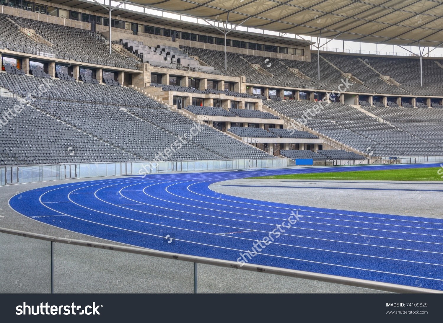Olympiastadion Olympic Stadium Sports Stadium Berlin Stock Photo.