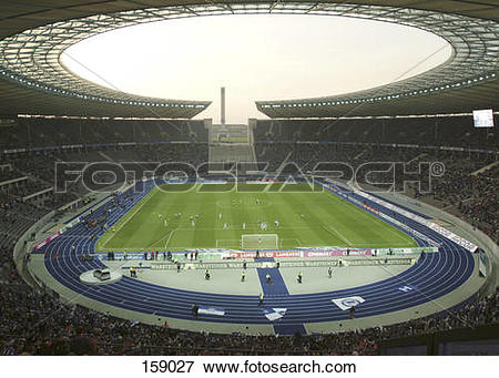 Picture of Spectators in soccer stadium, Olympic Stadium, Berlin.