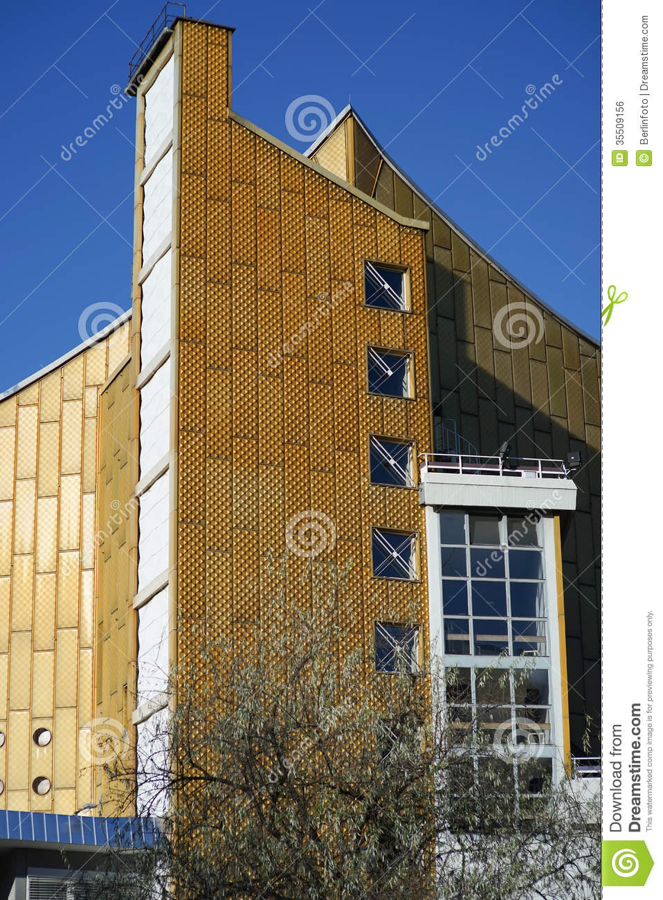 Berlin Philharmonic Orchestra Building Royalty Free Stock Image.
