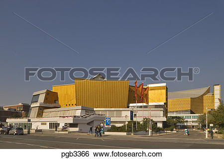 Stock Images of Berlin, Germany. The Kultur Forum near.