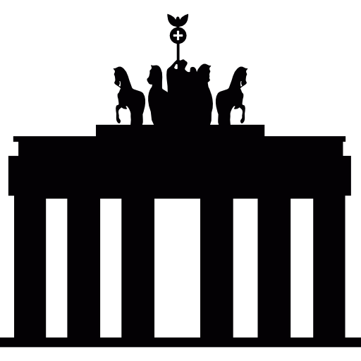 Brandenburg gate in berlin (germany) Icons.