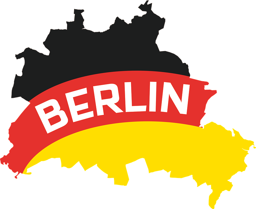 Berlin Outline Map.